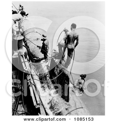 Sailors Fastening a Submarine - Free Stock Photography by JVPD