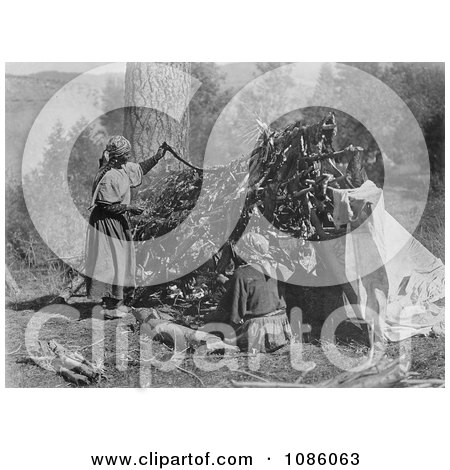 Salish Women Drying Meat - Free Historical Stock Photography by JVPD