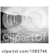 Scene Of Horseshoe Falls Niagara Falls Rushing Down Over Boulders Royalty Free Historical Stock Photography