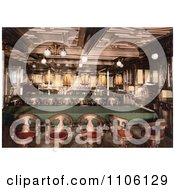 Second Class Dining Room On The Konig Albert Steamship North German Lloyd Royal Mail Steamers Royalty Free Historical Stock Photo by JVPD