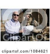 Senator John S Mccain Standing With US Marine Corps Maj Gordon Hilbun Free Stock Photography by JVPD