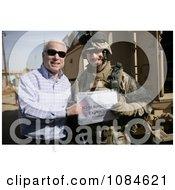 Senator John S Mccain Standing With US Marine Corps Maj Gordon Hilbun Free Stock Photography