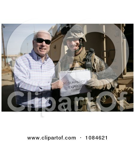 Senator John S. Mccain Standing With U.S. Marine Corps Maj. Gordon Hilbun - Free Stock Photography by JVPD