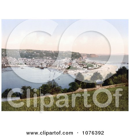 Ships in the Harbor at Teignmouth, Devon, England, United Kingdom - Royalty Free Stock Photography  by JVPD