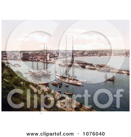 Ships in the Harbor at Weymouth Dorset England UK - Royalty Free Stock Photography  by JVPD