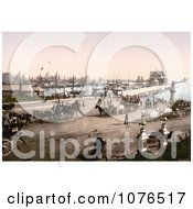 Ships In The Harbour And Carriages At The Pier In Lowestoft Suffolk East Anglia England United Kingdom Royalty Free Stock Photography