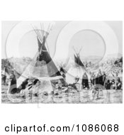 Shoshoni Indians With Tepees Free Historical Stock Photography