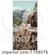 Silverton Toll Road Winding Along The Mountainside Ouray Colorado Royalty Free Historical Stock Photo by JVPD