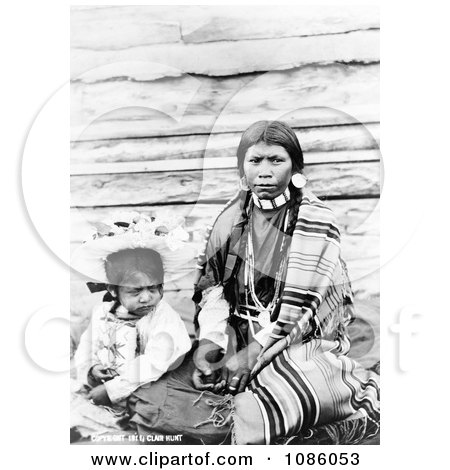 Sinkiuse-Columbia Indian Mother - Free Historical Stock Photography by JVPD