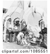 Sioux Chiefs And Tipis Free Historical Stock Photography