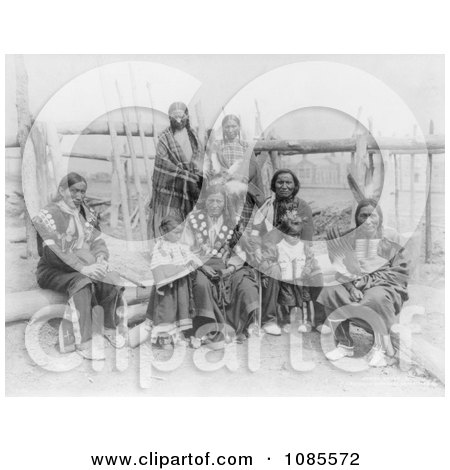 Sioux Indian Family - Free Historical Stock Photography by JVPD