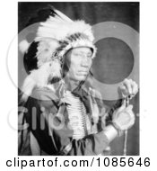Sioux Indian Man Named Kills Close To The Lodge Free Historical Stock Photography