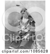 Sioux Indian Named Bone Necklace Free Historical Stock Photography