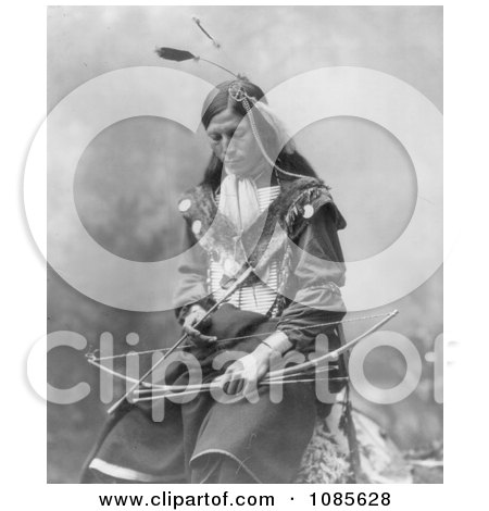 Sioux Indian Named Bone Necklace - Free Historical Stock Photography by JVPD