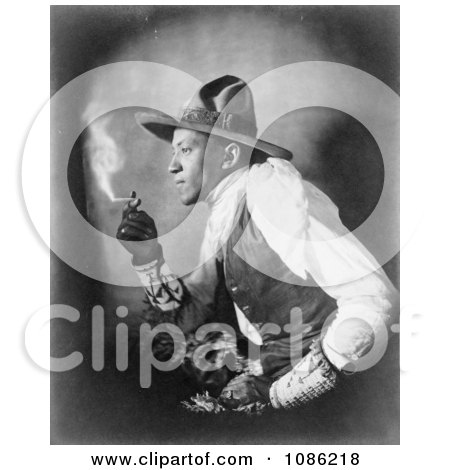 Sioux Indian Smoking Cigarette - Free Historical Stock Photography by JVPD