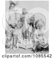 Sioux Indians Grey Eagle And Family Near Tipi Free Historical Stock Photography