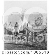 Sioux Indians Wagon And Tipi Free Historical Stock Photography by JVPD