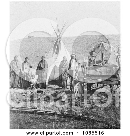 Sioux Indians, Wagon and Tipi - Free Historical Stock Photography by JVPD