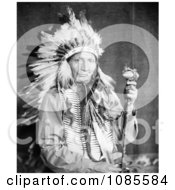 Sioux Native American Man Named Red Horn Bull Free Historical Stock Photography