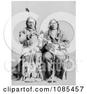 Sitting Bull And One Bull Free Historical Stock Photography