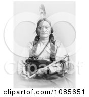 Sitting Bull Holding A Calumet Free Historical Stock Photography by JVPD