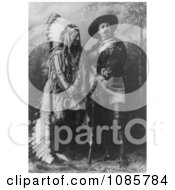 Sitting Bull Standing With Buffalo Bill Free Historical Stock Photography by JVPD
