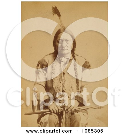 Sitting Bull With Peace Pipe - Free Historical Stock Photography by JVPD