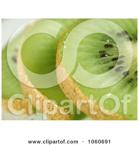 Slices Of Kiwi Fruit - Royalty Free Stock Photo by Kenny G Adams