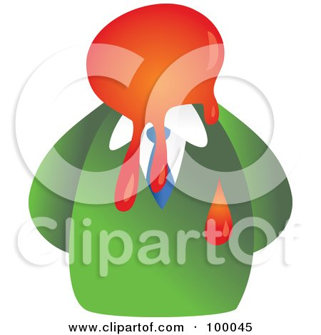 Royalty-Free (RF) Clipart Illustration of a Businessman With A Splatter Face by Prawny