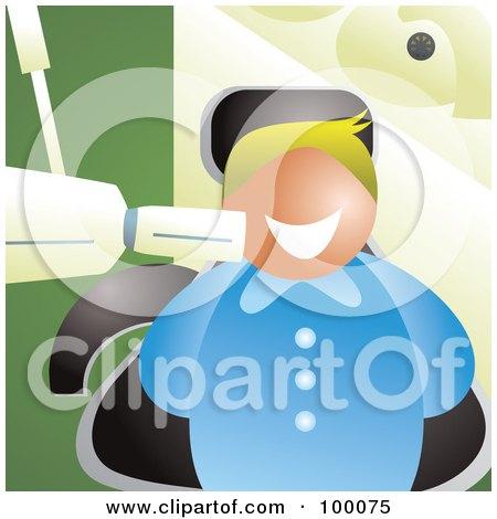 Royalty-Free (RF) Clipart Illustration of a Happy Man Getting A Dental Xray by Prawny