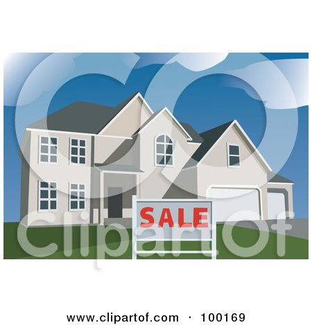 Real estate posters real estate art prints 19 for Modern house clipart