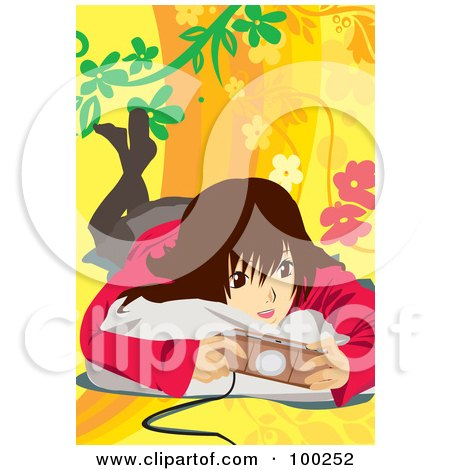 Royalty-Free (RF) Clipart Illustration of an Obsessed Gamer Man Sitting On A ...