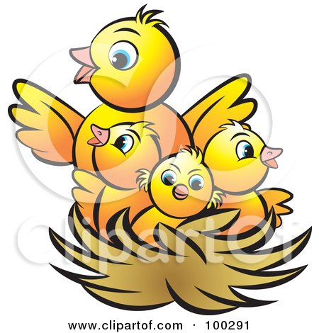 Royalty-Free (RF) Clipart Illustration of a Mother Bird ...