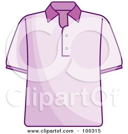Royalty-Free (RF) Clipart Illustration of a Pink Shirt by Lal Perera