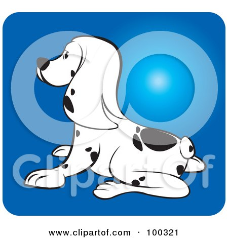 Royalty-Free (RF) Clipart Illustration of a Dalmation Puppy Dog Facing Left by Lal Perera