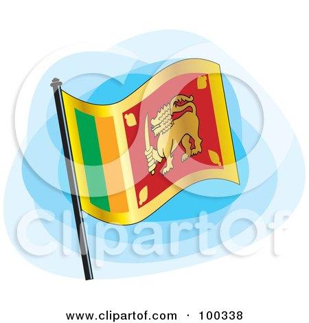 Royalty-Free (RF) Clipart Illustration of a Sri Lankan Flag by Lal Perera