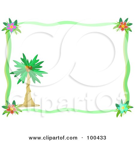 Royalty-Free (RF) Clipart Illustration of a Blue Palm Tree ...