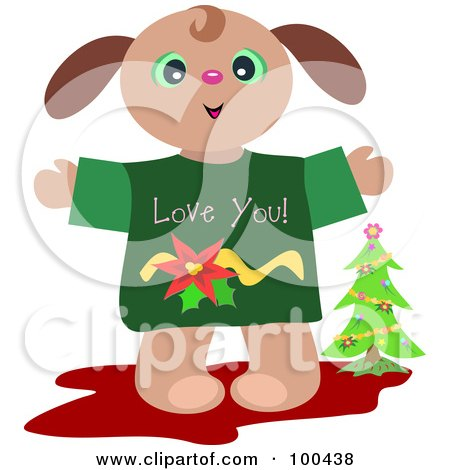 Royalty-Free (RF) Clipart Illustration of an Adorable Christmas ...