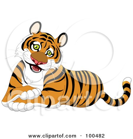 royalty free rf clip art illustration of a tiger standing upright rh clipartof com