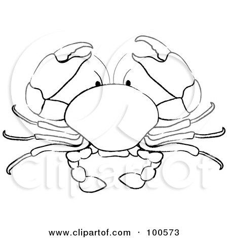 RoyaltyFree RF Clipart Illustration of Line Art Of a