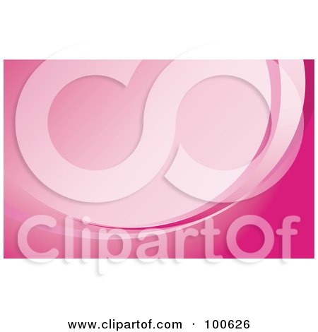 Royalty-Free (RF) Clipart Illustration of a Pink Curve Business Card Template Or Website Background With Copyspace by KJ Pargeter