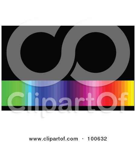 Rainbow Gradient Business Card Template Or Website Background With Black Copyspace Posters, Art Prints