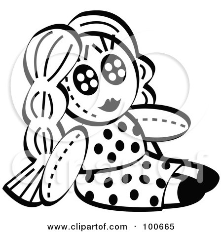 Black  White Polka  Dress on Of A Black And White Little Girls Dol In A Polka Dot Dress Jpg
