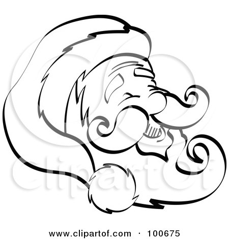 Baby Mustache Coloring Page