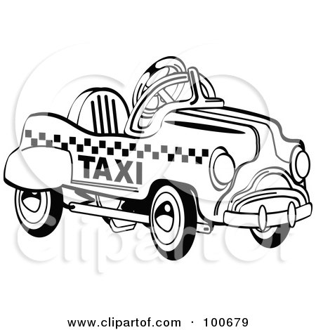 royalty free rf taxi clipart illustrations vector. Black Bedroom Furniture Sets. Home Design Ideas