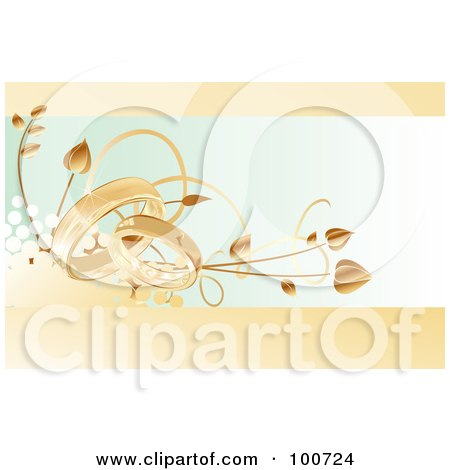 RoyaltyFree RF Clipart Illustration of a Wedding Card Invitation With