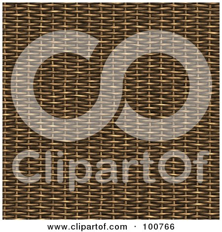 Royalty-Free (RF) Clipart Illustration of a 3d Wicker Material Weave Background by Arena Creative
