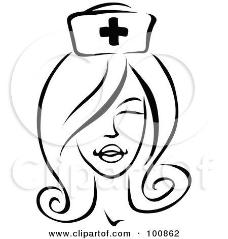 Nurse hat drawing