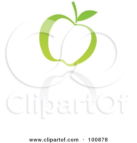 Royalty-Free (RF) Clipart Illustration of a Green Apple Icon by cidepix