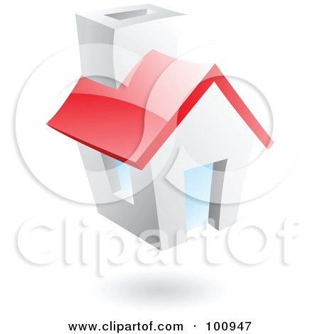 Royalty-Free (RF) Clipart Illustration of a 3d Glossy Home Page Icon by cidepix